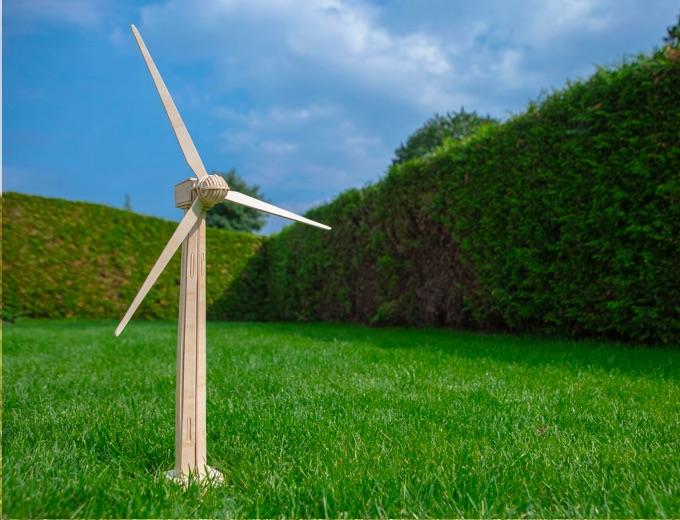 Windenergie op grasveld Oxxio Energie